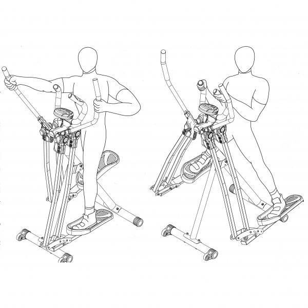 2-IN-1 SWING AIR WALKER W/HP