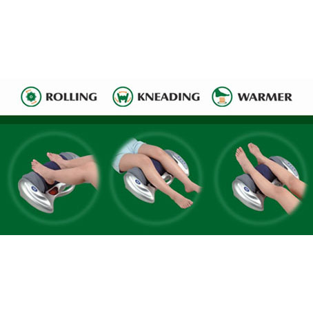TWIN-KNEADING ROLLER MASSAGER