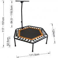 44 INCH HEXAGON TRAMPOLINE