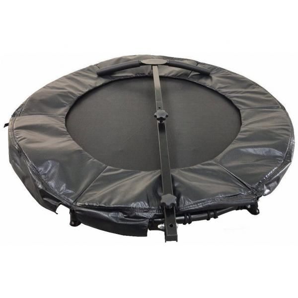 44 INCH FITNESS TRAMPOLINE (W/FOLDABLE HANDLEBAR AND LEG)